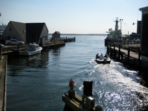 View from the Woods Hole draw bridge.